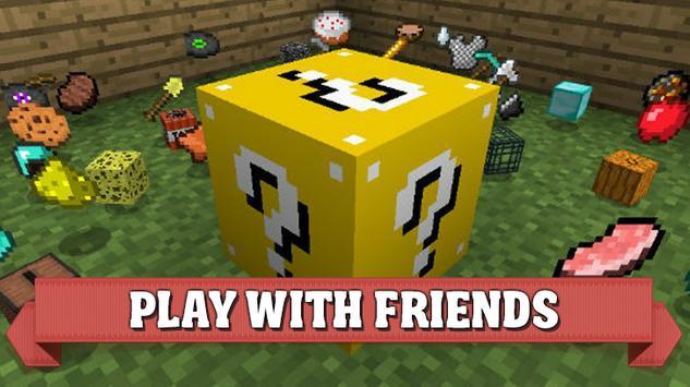 Lucky Block mod for Minecraft PE apk screenshot