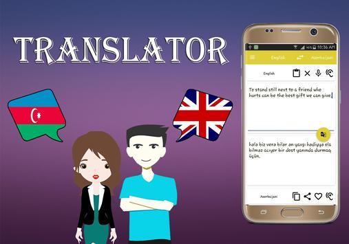 Azerbaijani To English Translator apk screenshot