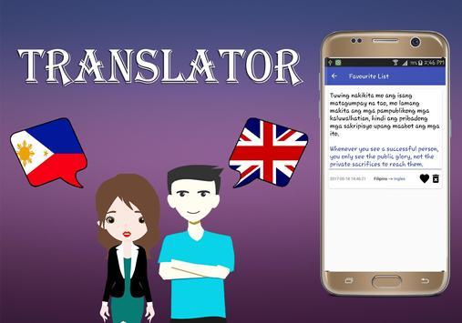 Filipino To English Translator screenshot 4
