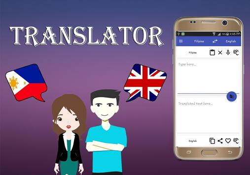 Filipino To English Translator poster