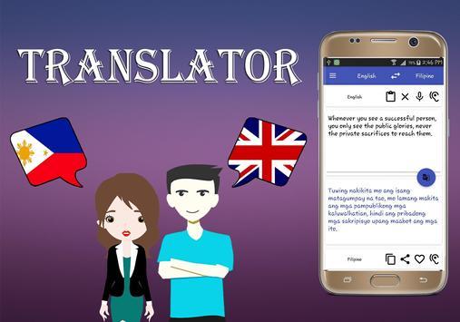 Filipino To English Translator screenshot 1