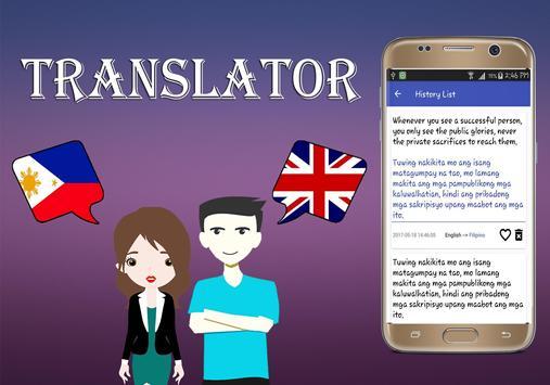 Filipino To English Translator screenshot 3