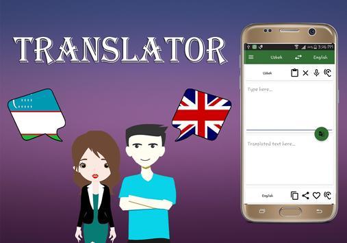 Uzbek To English Translator poster