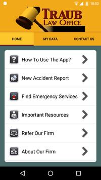 Traub Law Injury Help App poster