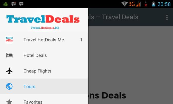 Travel Deals apk screenshot
