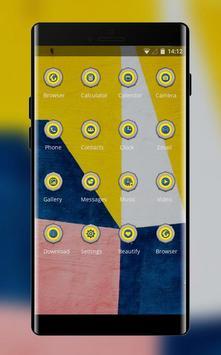 colorful shape art design theme screenshot 1