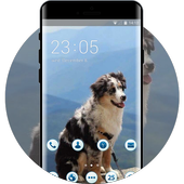 clever doggy pet theme icon
