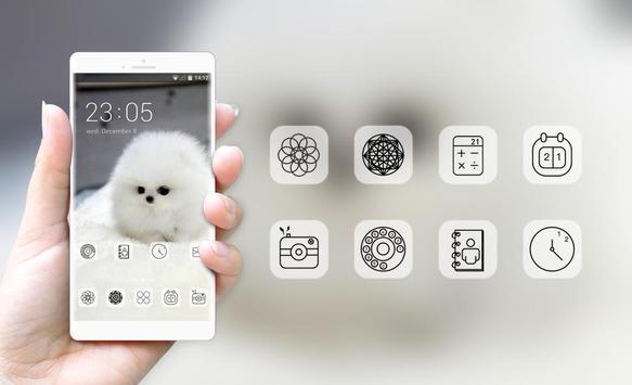 cute white hairy puppy pet theme screenshot 3
