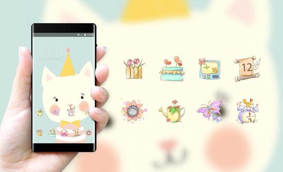 Girly Flower theme festival flame smolk hand drawn screenshot 3