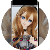 Doll Monster theme festival love red icon
