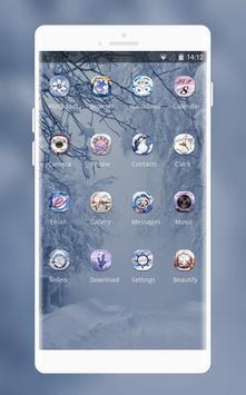 snowy forest cabin theme screenshot 1