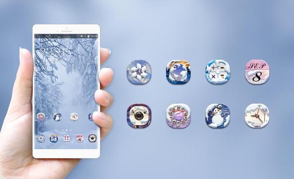 snowy forest cabin theme screenshot 3