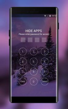 natural forest snow cabin theme screenshot 2