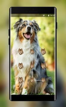 Cute puppy pet lock theme poster
