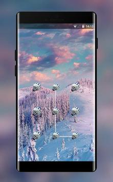 colorful brilliant forest snow lock theme poster