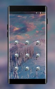 colorful brilliant forest snow lock theme screenshot 1