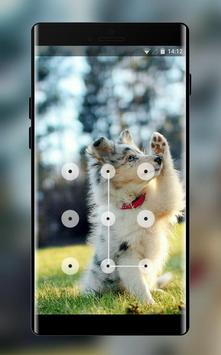 funny puppy lock theme poster
