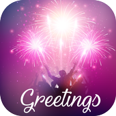 2018 New Year Greetings Card icon