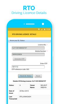 RTO Driving Licence Detail -Verify Driving Licence screenshot 2