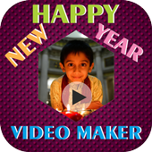 New Year Video Slideshow With Music icon