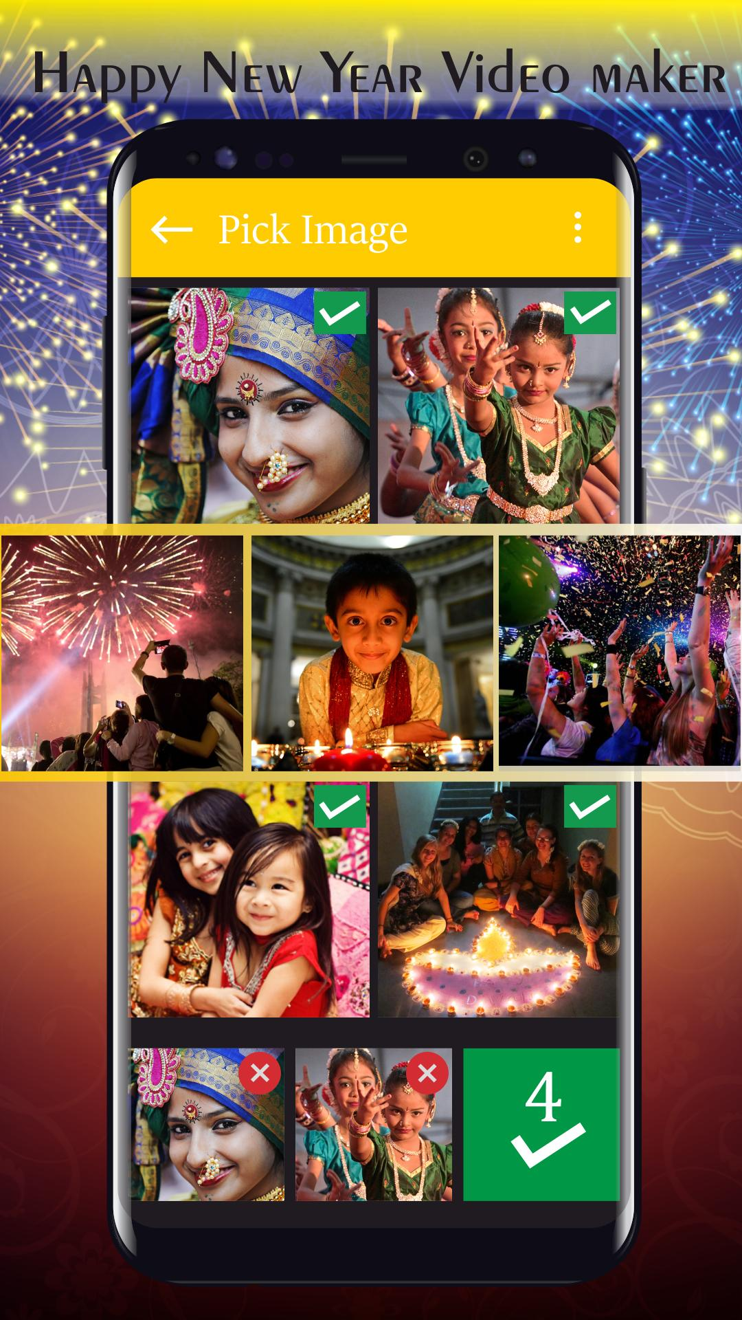 New Year Video Slideshow With Music poster