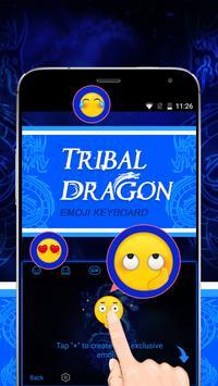 Tribal Dragon Theme&Emoji Keyboard apk screenshot