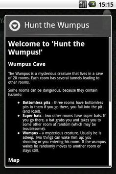 Hunt the Wumpus apk screenshot