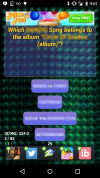 Trivia of Placebo Songs Quiz apk screenshot