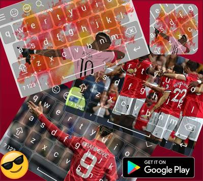 Keyboard themes for  Manchester united  poster