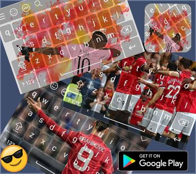 Keyboard themes for  Manchester united  screenshot 1
