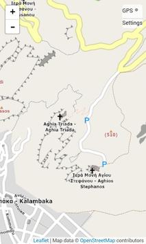 Map of Meteora poster
