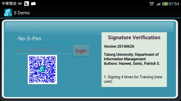 S Demo(Signature Verification) poster