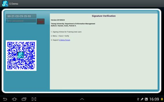 S Demo(Signature Verification) screenshot 3