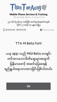 Download TTA Mi Beta Myanmar Font 1 APK para android Fast
