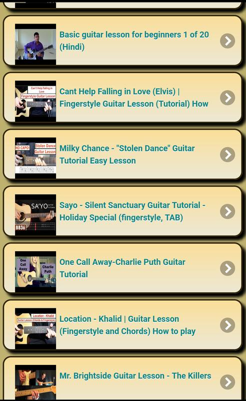 Guitar Tutorial for Android - APK Download