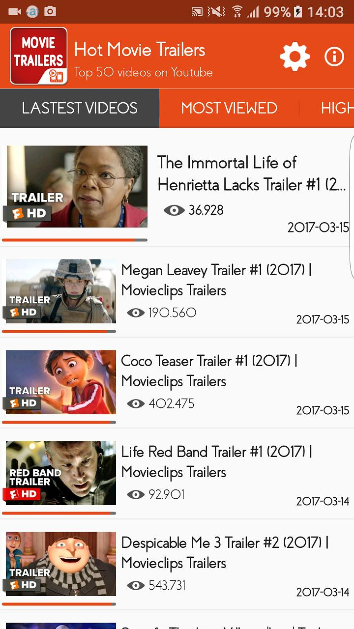 Hot Movie Trailers for Android - APK Download