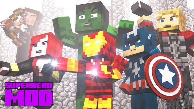 Superhero Mod for Minecraft PE poster