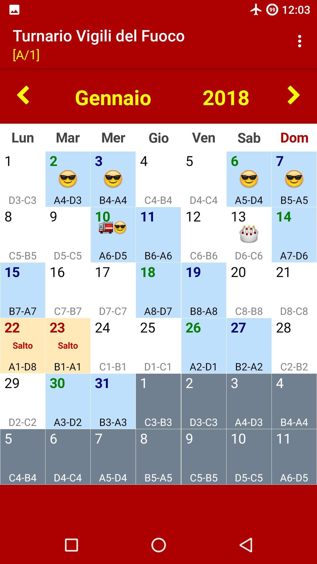 Calendario Vvf.Turnario Vigili Del Fuoco For Android Apk Download