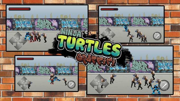 Turtles Ninja Graffiti Fight apk screenshot