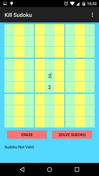 Kill Sudoku screenshot 1