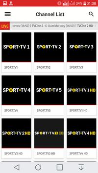 Portugal TV EPG Free apk screenshot