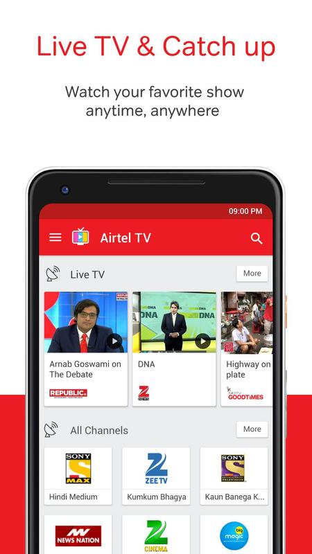 Airtel Tv Movies Tv Series Live Tv Apk
