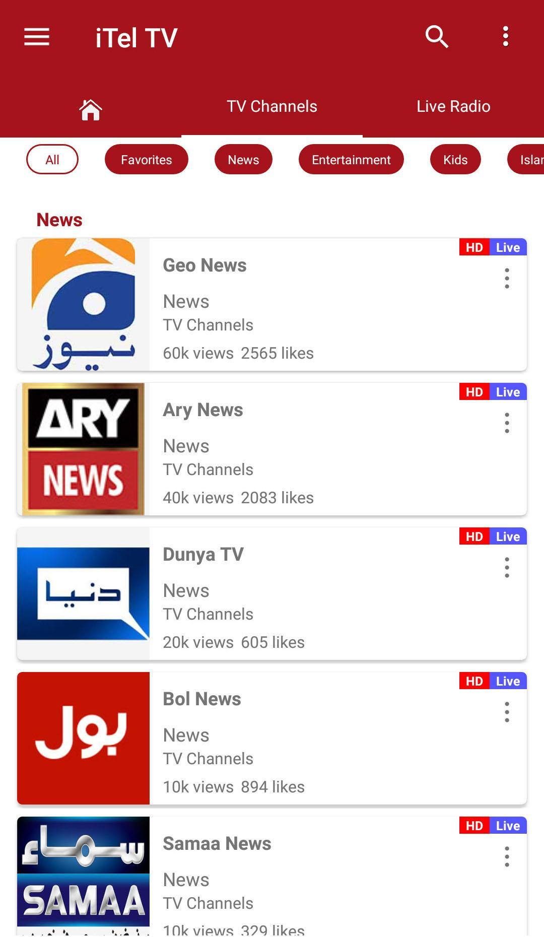 iTel TV for Android - APK Download