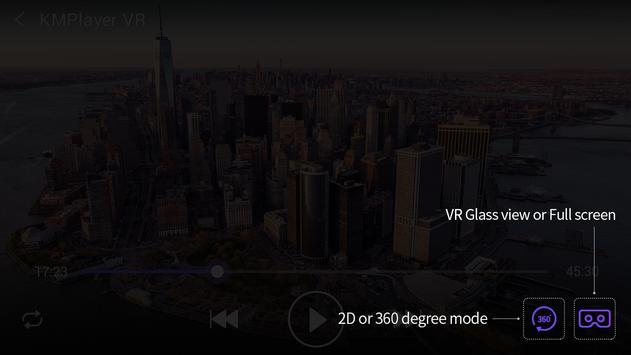 KMPlayer VR (360degree, Virtual Reality) apk screenshot