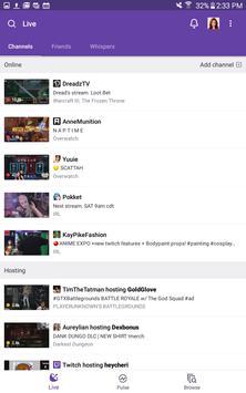 Twitch apk imagem de tela