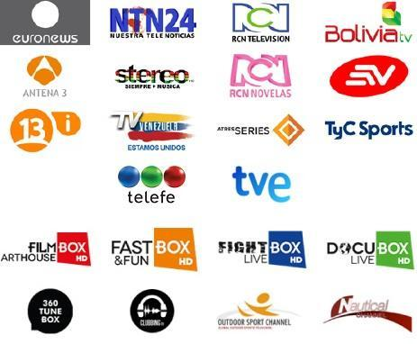 Direct television channels of the Spain channel for Android