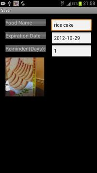 Food expiration - Saver screenshot 2