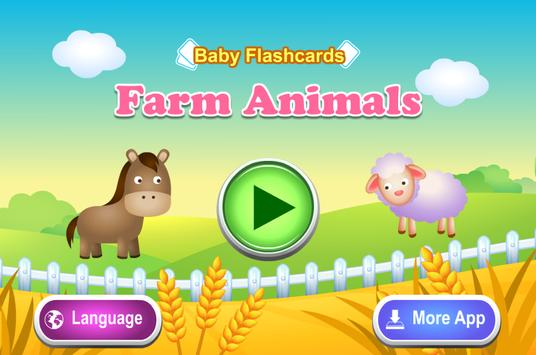 Kids Flashcards - Farm Animals poster