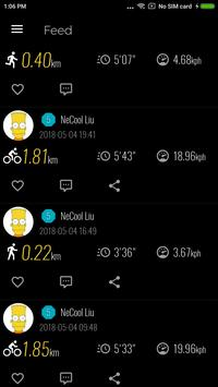 Shadow - Running Biking Walking GPS Sports Tracker apk screenshot