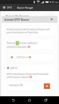 SPOT Beacon Manager apk screenshot